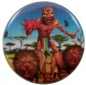 Iron Maiden - 'Eddie Lions South Africa' Button Badge